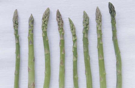 juxtaposing: Green asparagus, detail
