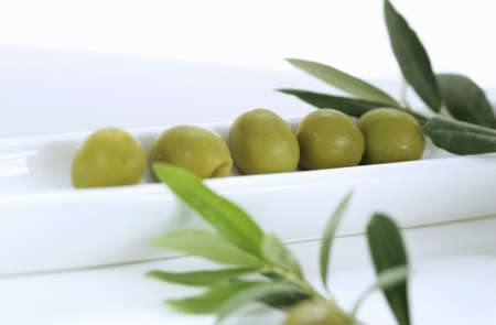foodstill: green olives as a starter