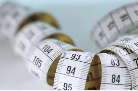 furled: Measuring tape, furled, close-up