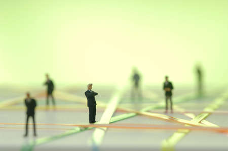 chellange: Business network, figurines