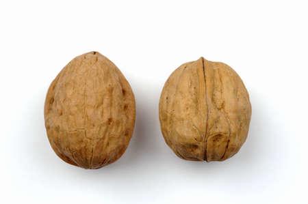 juxtaposing: Two walnuts LANG_EVOIMAGES