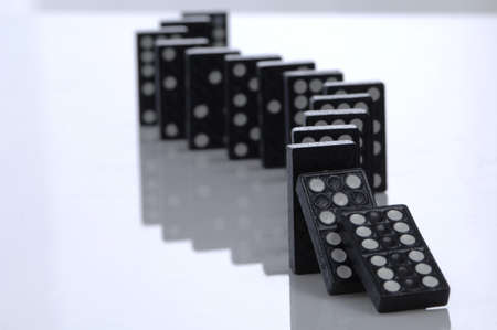 causation: Falling Row of Dominoes