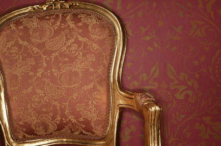 ambiente: Back rest of a baroque chair