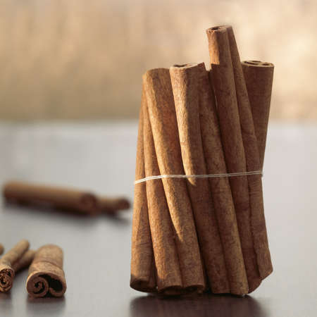 foodstill: Cinnamon sticks on a table