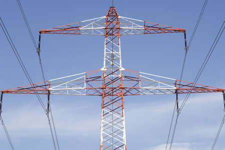 energy use: Electricity pylon, low angle view LANG_EVOIMAGES