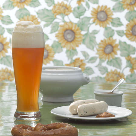 veal sausage: Bavarian veal sausage and wheat beer LANG_EVOIMAGES