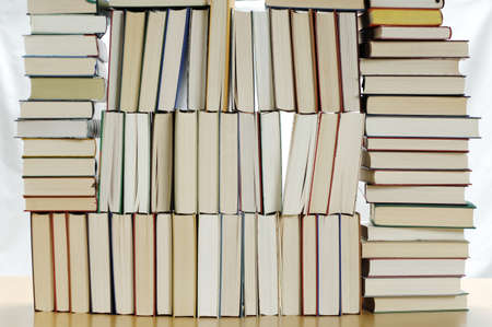 equipoise: Stacked books LANG_EVOIMAGES