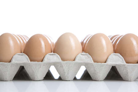 conformance: Eggs in tray, close-up