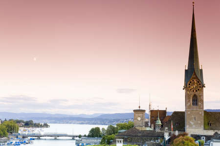hist: Switzerland, Zurich, city view