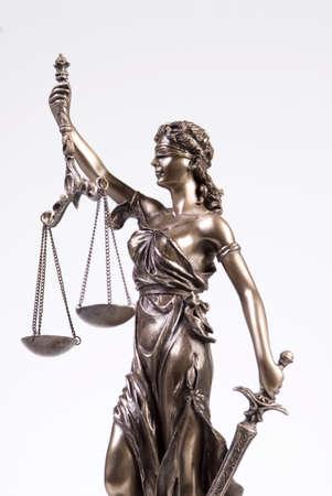 Justitia figur, close-up LANG_EVOIMAGES