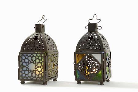 juxtaposing: Arabian hand lanterns, close-up