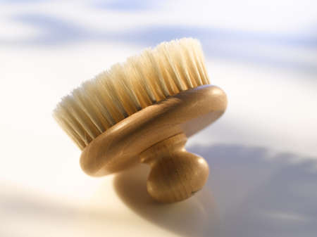 scrubbers: Rounded wooden brush, close up