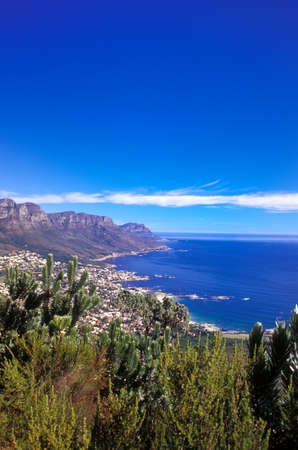 scenaries: Camps Bay and Bakoven from Lions Head, Capetown, south africa