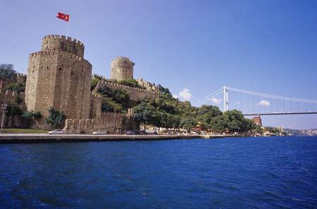 hisari: Istanbul,Rumeli Hisari Castle and Bosporus Bridge, Turkey