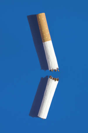 elevated: Broken cigarette, elevated view
