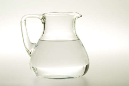 carafe: Glass carafe with water