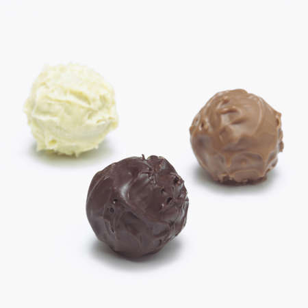 trufas de chocolate: Trufas de chocolate, primer plano