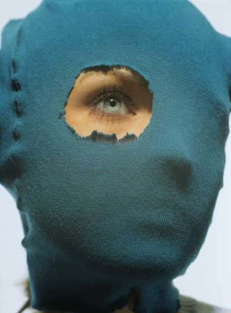 age 20 25 years: Masked woman, portrait