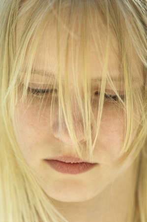 13 15 years: Blond girl, portrait