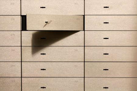 safety deposit box: Open safety deposit box
