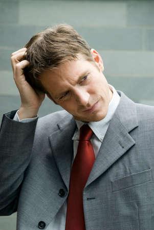 musing: Businessman musing