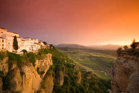 ronda: Spain Andalusia Ronda with afterglow