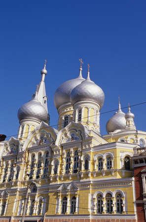 spires: Odessa onion spires of  Pantelejmonos Church Ukraine LANG_EVOIMAGES