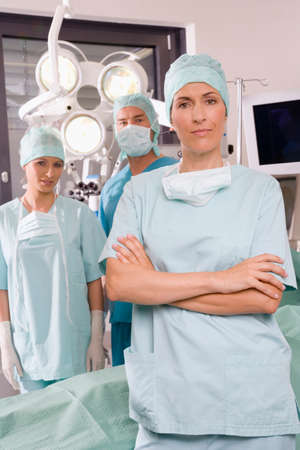 operating room: Surgery team in operating room