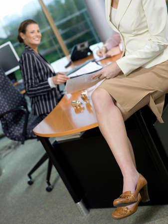 pinstripes: Businesswomen in office