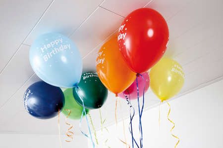 ceiling: Colourful balloons on ceiling