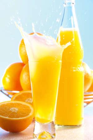 Orange lemonade with splash