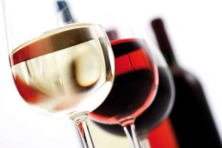 Glasses of wine closeup