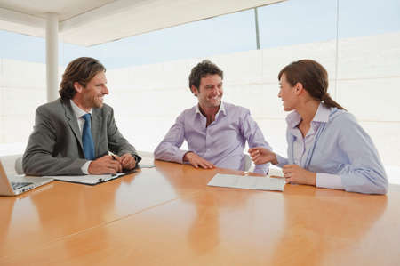 conference room meeting: Business people in meeting