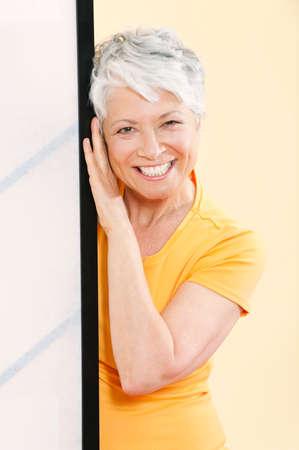only senior adults: Senior woman smiling portrait closeup