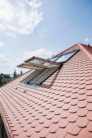 dormer: Tiled roof and dormer window