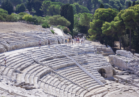 Greek Theater of Syracuse, Sicily, Italy Editorial