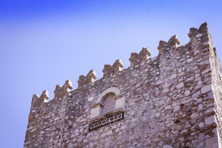 Ancient Palazzo Corvaja in Taormina, Sicily, Italy Editorial