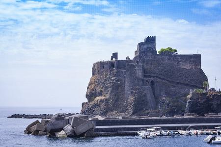 Acicastello - ancient castle in Acitrezza, Catania, Sicily, Italy