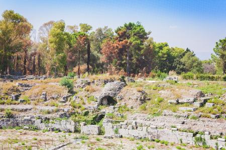The Roman amphitheatre of Syracuse