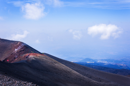 Mount Etna, active volcano on Sicily, Italy