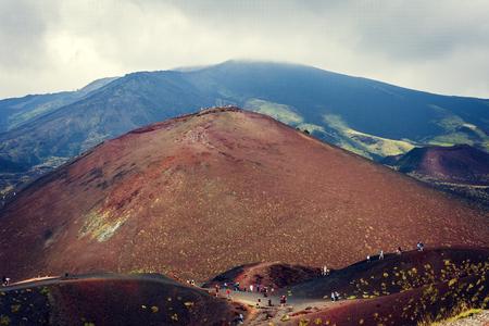 Mount Etna, active volcano of Sicily, Italy