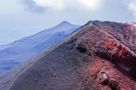 Mount Etna, active volcano on the east coast of Sicily