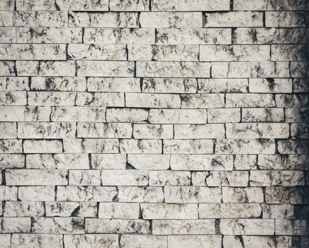 Old white dirty brick wall background Stock Photo