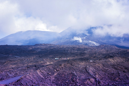 Mount Etna, active volcano on the east coast of Sicily, Italy
