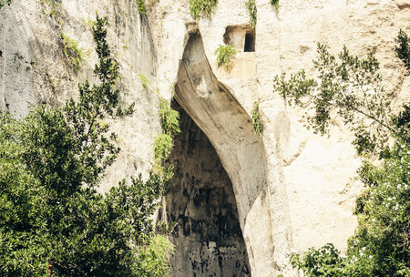 Limestone Cave Ear of Dionysius (Orecchio di Dionisio) with unusual acoustics – Syracuse (Siracusa), Sicily, Italy
