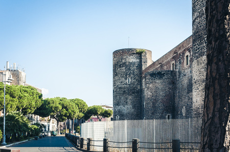 famous landmark Castello Ursino, ancient castle in Catania, Sicily, Southern Italy Banque d'images - 121768834