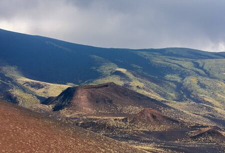 Silvestri Craters of Mount Etna, active volcano on the east coast of Sicily, Italy Фото со стока