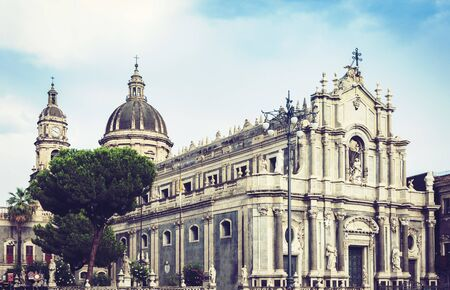 Cathedral dedicated to Saint Agatha. The City of Catania, Sicily, Italy