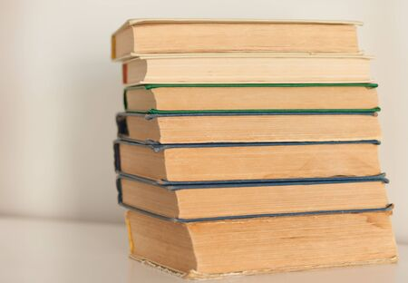 stack of old book education concept background, many books piles with copy space for text Фото со стока