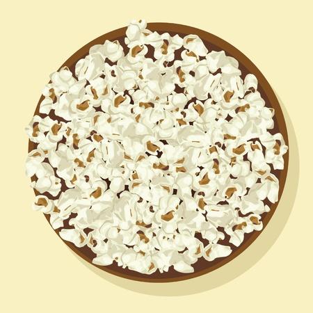 bowl of popcorn: Bowl of popcorn Illustration
